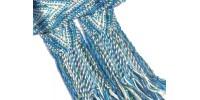 Parure vestimentaire fléchée - Têtes de flèche et flammes perlées, oeil