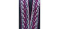 Parure vestimentaire fléchée - Têtes de flèche, flammes perlées, oeil, bordures